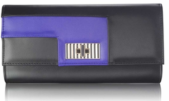 LSE00232 - Black / Blue Twist Lock Purse