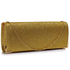 LSE00235 - Gold Glitter Clutch Bag