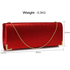 LSE00235 - Red Glitter Clutch Bag