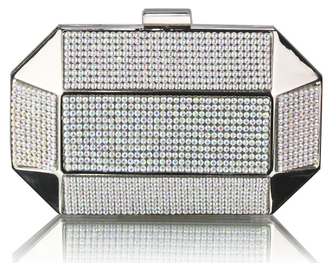 LSE0040 - Wholesale & B2B AB White Rhinestone Studded Hard Box Bridal clutch bag Supplier & Manufacturer