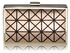 LSE0057 - Champagne Hard Metal Box Clutch