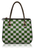 LS00135 - Green and White Checkered Print Grab Bag