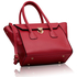 LS00183 - Pink Twist Lock Shoulder Handbag
