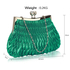 LSE00193 - Emerald Crystal Evening Clutch Bag
