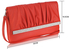 LSE00187- Red Flapover Clutch Purse
