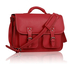LS00162 - Fuchsia Double Pocket Old School Satchel