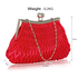 LSE00193 - Red Crystal Evening Clutch Bag