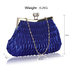 LSE00193 - Royal Blue Crystal Evening Clutch Bag