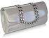 LSE0064 - White Patent Clutch Bag