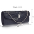 LSE0067- Navy Sparkly Crystal Satin Clutch purse