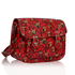 LS0087A - Red Oilcloth Owl Design Satchel