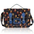 LS00226D - Navy Owl Design Satchel