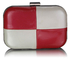 LSE0061 - Red/White Hardcase Clutch Bag