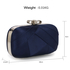 AGC00258 - Navy Satin Clutch Evening Bag