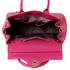 LS0029B - Fuchsia Flap Over Twist Lock Satchel