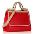 LS00272A - Red Vintage Style Fashion Tote Handbag