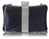 LSE0048 - Wholesale & B2B Gorgeous Navy Crystal Strip Clutch Evening Bag Supplier & Manufacturer