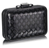 LSE00273 - Black Luxury Clutch Purse