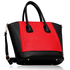 LS0090A - Black / Red Tote Bag With Long Strap