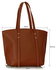 LS00335 - Brown Women's Large Tote Bag