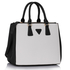 AG00184M  - Black / White Tote Handbag