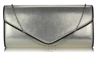 LSE00282  -  Ivory Large Flap Clutch purse