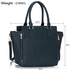 LS00314 - Wholesale & B2B Navy Zipper Tote Supplier & Manufacturer