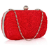 LSE00110 - Classy Red Ladies Lace Evening Clutch Bag