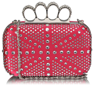 LSE00157 - Wholesale & B2B Pink Women's Knuckle Rings Evening Bag Supplier & Manufacturer