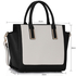 LS00338 - Wholesale & B2B Black / White Tote Bag With Long Strap Supplier & Manufacturer