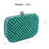 LSE00283 - Emerald Beaded Pearl Rhinestone Clutch Bag