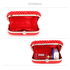 LSE00283 - Red Beaded Pearl Rhinestone Clutch Bag