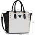 LS00287 - Black / White Studs Decorated Tote Bag