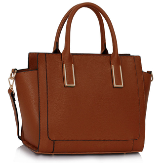 LS00338 - Brown Tote Bag With Long Strap