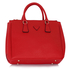 LS00260  - Red Grab Tote Handbag