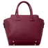 LS00149 - Burgundy Polished Metal Shoulder Handbag