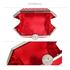LSE00285 - Red Rhinestone Studded Hard Box Bridal clutch bag