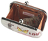 LSE00290 - Brown Hard Case Clutch Bag With Kiss Lock