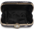 LSE00292 - Black Peacock Pattern Aluminum / Sequins Clutch Evening Bag