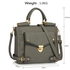 LS00237A - Wholesale & B2B Grey Twist Lock Flap Grab Tote Supplier & Manufacturer