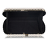LSE00294- Silver Hard Case Clutch Bag