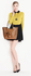 LS00348 - Nude Patent Bow-Tie Shoulder Handbag