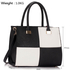 LS00153M - Black / White Fashion Tote Handbag