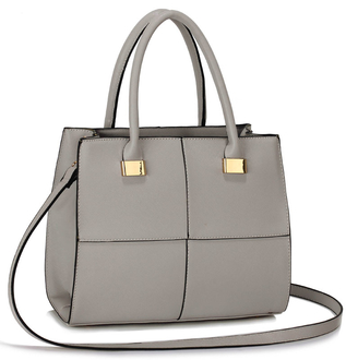 LS00153M - Grey Fashion Tote Handbag