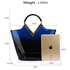 AG00379 - Navy Two Tone Patent Bag