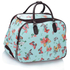 AGT00309C - Wholesale & B2B Blue Butterfly Print Travel Holdall Trolley Luggage With Wheels - CABIN APPROVED Supplier & Manufacturer