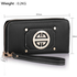 LSP1051 - Black Purse/Wallet with Metal Decoration
