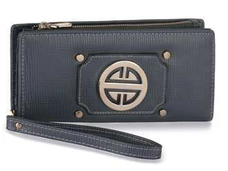 LSP1053 - Navy Purse/Wallet with Metal Decoration