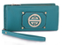 LSP1053 - Teal Purse/Wallet with Metal Decoration