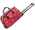 AGT00308C - Wholesale & B2B Red Butterfly Print Travel Holdall Trolley Luggage With Wheels - CABIN APPROVED Supplier & Manufacturer